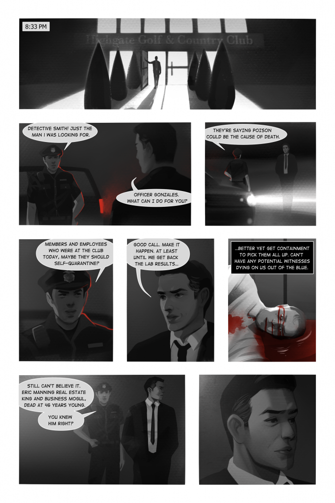Murder At The Country Club Comic