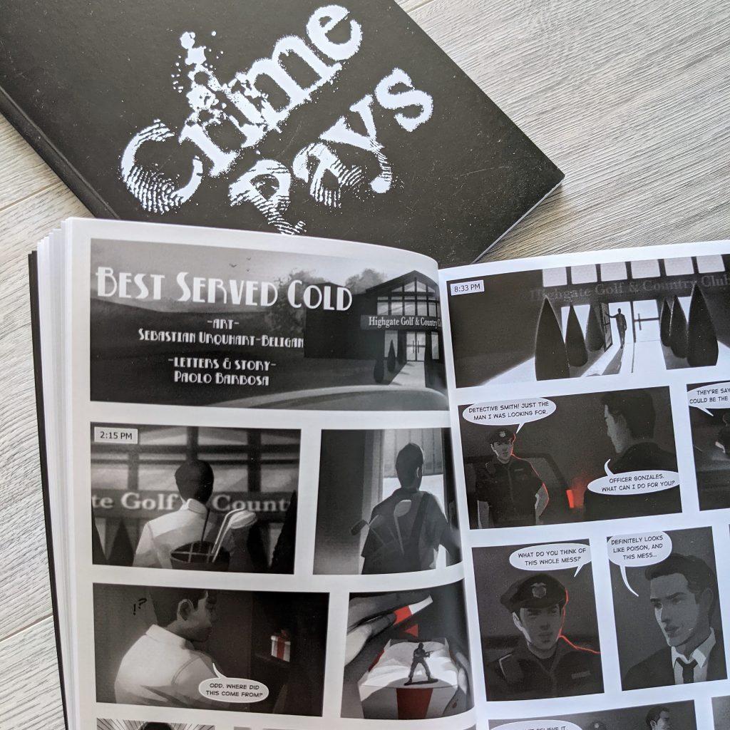 Crime Pays Anthology Writing Comics